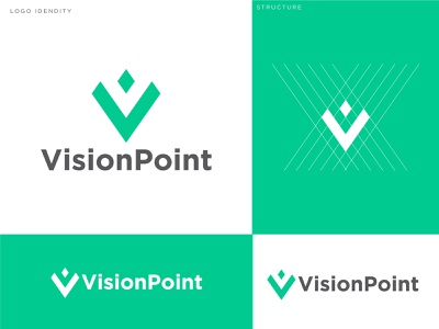 VisionPoint logo design vision v letter  abstract logo v letter logo vintage visionpoint visual design point logo vision logo abstract design branding visual identity logo logodesign letter logo letter logo design abstract logo logo design
