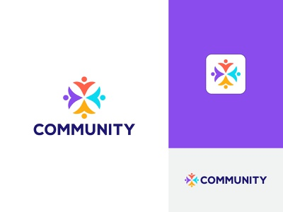 Community  logo design logo branding design branding and identity meaningful logo crative logo brand identity unity logo community logo branding design branding visual identity logo letter logo logo design