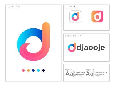 Letter d+j abstract logo mark graphic design logo visual identity logo design abstract logo letter logo design abstract design letter logo
