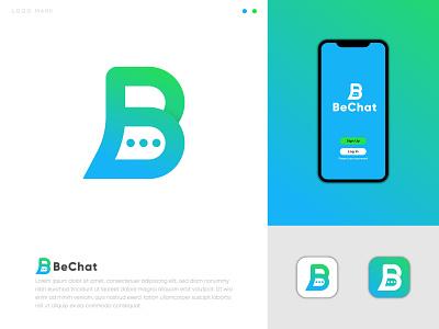 """Chat logo """" BeChat """" logofolio logotype message logo tech modern logo startup technology branding design branding monogram chat chat logo illustration visual identity letter logo design letter logo abstract logo abstract design logo logo design"""