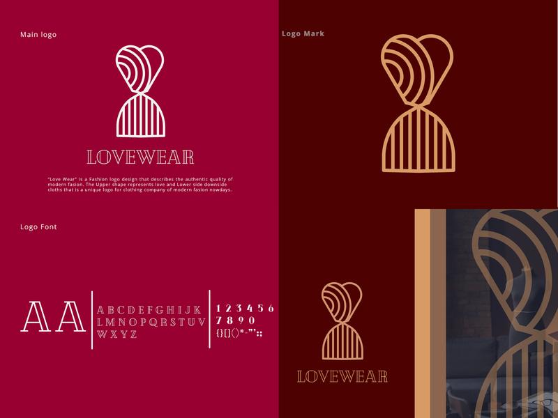 Lovewear Fashion Logo Design logo inspiration logo designer logo design fashionlover fashionart fashiondesign clothing company clothing design clothing brand love logotype popular fashion logo colorful design logo