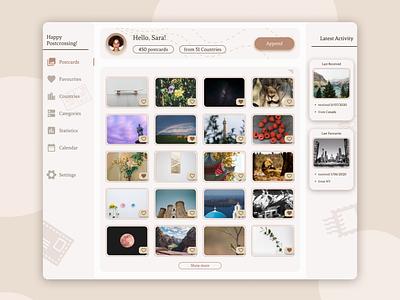 Postcards Gallery cards gallery webdesign website ux ui figma design figma