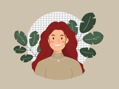 Hello! It's Me! girls art avatar illustration figma