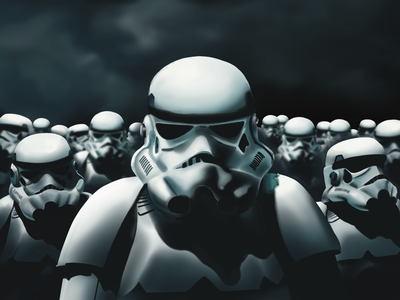 Army of Stormtroopers empire stormtrooper starwars procreate art illustration
