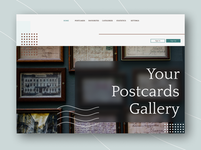 Home Page gallery postcards page website ux vector ui design figma