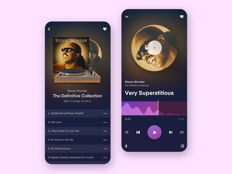 Music Player Concept mobile user-interface ux ui design user interface app dailyui uidesign design product design uiux ui music player music app