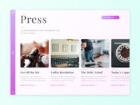 Daily UI 51 - Press Page