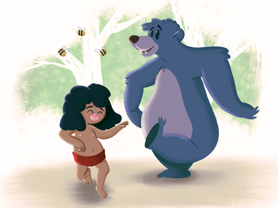 Howl disney movie mowgli jungle book childhood childhood week illustrator illustration