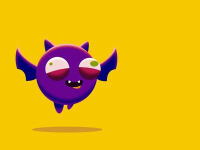 Batty Boy loops looping loop animation flying bat halloween after effects 2danimation illustration animation