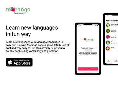 Morango Languages website vector ux branding webdesign morangolanguages design app ios figma language learning mobile