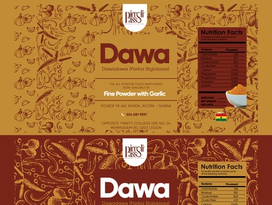 Picolli Passo Dawa Mix Label Design ghana packagingpro packagedesign branding