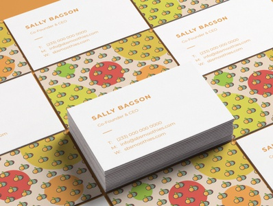 Sally's Smoothies Call card brand identity mockup branding