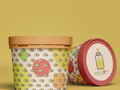 Sally's Smoothies Package mockup ghana packagedesign branding