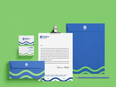 Pristine Cleaning Services Stationary Mockup stationary mockup brand identity mockup branding