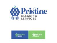 Pristine Cleaning Services Logo brand identity photoshop illustration logo