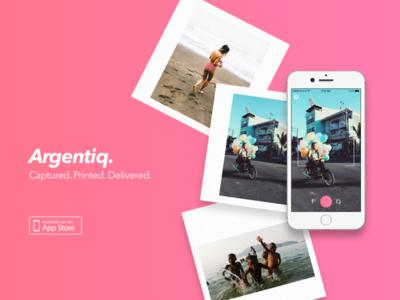 Argentiq. - Printing App Concept