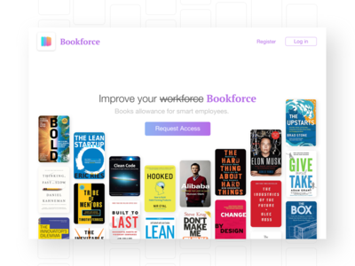 Bookforce - Landing Page Concept