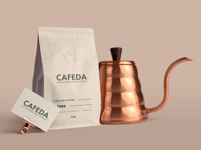 CAFEDA brand identity design coffee coffeeshop visual identity brand identity design logo design business card design food and drink branding minimal