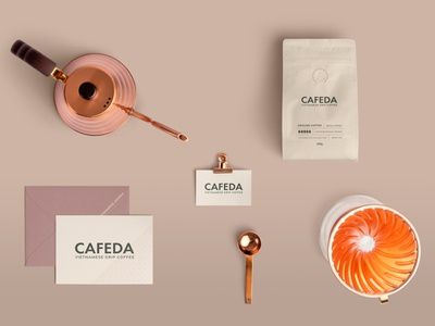 CAFEDA branding organic food coffee shop brand idenity coffee packaging design logo design business card design typography food and drink branding minimal