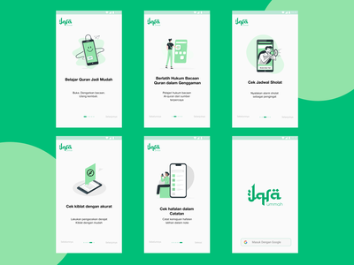 Onboarding Page - Iqra Ummah App design tajwid quran app mobile design ui