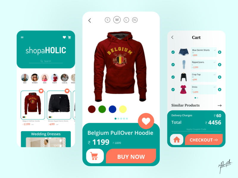 Shopping App shopping online mobile ui mobile app shopper user interface design clothes shop clothes ui design shopping app app design