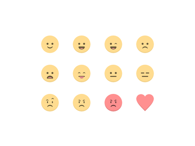 Broadcast Emojis smile emojis broadcast chat grooveshark emoticons illustration frown angry heart