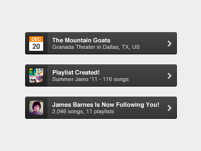 Grooveshark Notifications