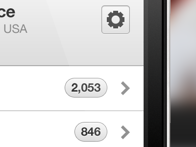 Html5 Profile grooveshark html5 app iphone android user profile stats navigation follow edit menu ui