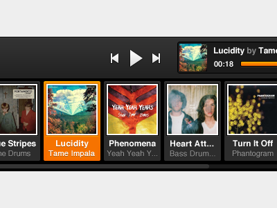 Player Open grooveshark music player scrubber queue broadcast