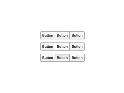 Button Interaction button buttons segmented gray button green button orange button red button down state grooveshark