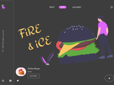 Hamburger -  UI /  UX desktop app desk framer invision ux mobileapp adobexd website web frontend ui figma design