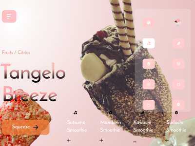 Icecream webdesign concept -   UI /  UX branding dribbble dribbble best shot invision protopie ux adobexd website web frontend ui figma design