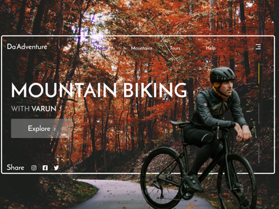 Mountain Travel - UI/ UX design art desktop travel designs invision dribbble best shot ux adobexd website web frontend ui figma design