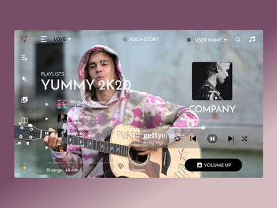 Music JB - WEB UI dribbble animation designs website design music illustration dribbble best shot ux adobexd website ui frontend figma design