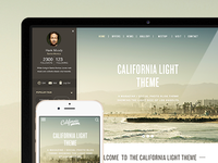 California Light & dark Theme preview
