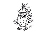 Pineapple Surfer