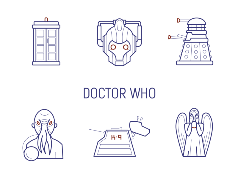 Doctor Who icons doctor who design icon vector illustration