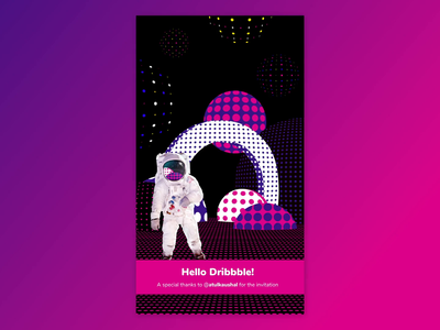 Hello dribbble! atulkaushal loop animation animation first shot invitation dribbble invite design