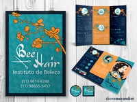Bee Hair Salon - brochure, poster and magnets