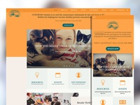 Responsive web design for an animal rescue company
