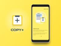 Copy+ app UI and UX design