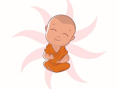 Little Monk procreate monk cute design illustration