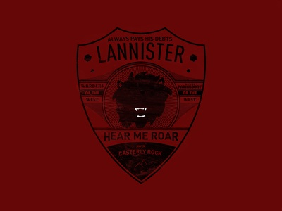 Game of Thrones Modern Badge: Lannister badge fantasy tee shirt lannister game of thrones