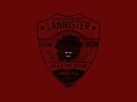 Game of Thrones Modern Badge: Lannister