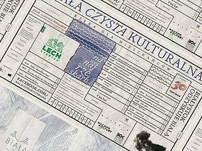 Biała Czysta Kulturalna Announcing Poster typography poster