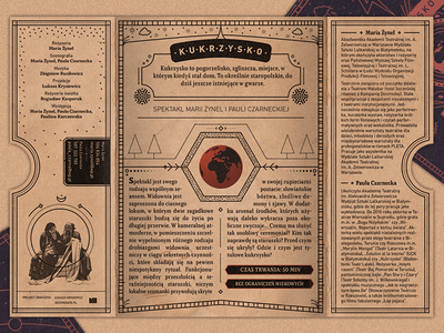 Kukrzysko (Inner) old book magic leaflet