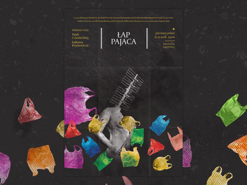 "'Catch the Clown' / ""Łap pajaca"" poster film dark movie poster"