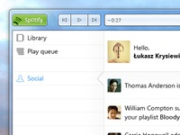 Spotify Redesign (Windows 7): Social