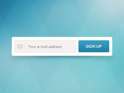 Sign up signup newsletter input mail email address blue button sign up