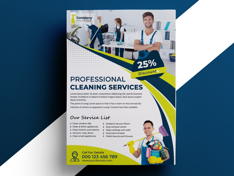 Cleaning Service Flyer residential service house cleaning commercial service flyer cleaning service flyer tamplate cleaning business advertisement cleaning service